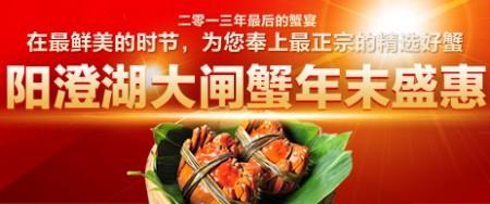 中国阳澄湖大闸蟹网年终盛惠