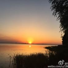 阳澄湖落日