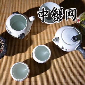 景德镇雪花釉十件套茶具礼盒