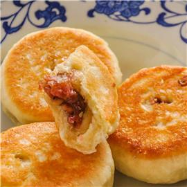 【阳澄食谱】江南小吃酒酿饼,玫瑰馅,别说你还没吃过