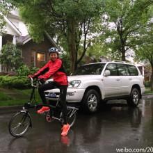 人生第一次冒中雨環陽澄湖36公里 Mark一下 ~