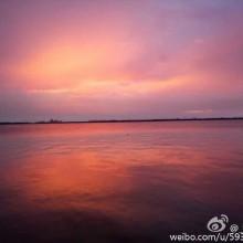 骑车去看夕阳时阳澄湖畔美景!