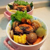 大闸蟹冒菜的做法