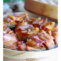 咸肉蒸蟹的做法