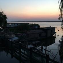 上周末,头一次去了阳澄湖转了转,加了一次餐。