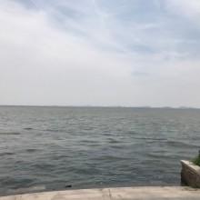 烟波浩渺的阳澄湖,可惜不是吃螃蟹最好的季节