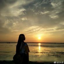 夕阳落在阳澄湖面真的太美[心]