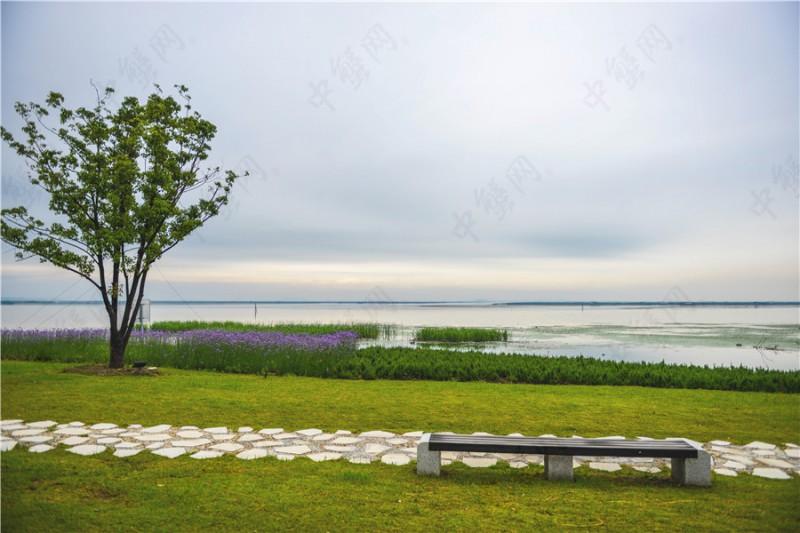 阳澄湖雨季