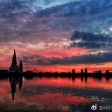 #园区美景# 昨晚的晚霞烧红了阳澄湖教堂的天空,你看见了没 @金朝均 