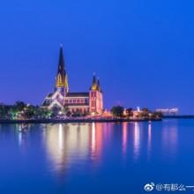 京沪高铁阳澄湖段和阳澄湖教堂