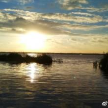 昨天傍晚的阳澄湖畔,赶在台风之前~