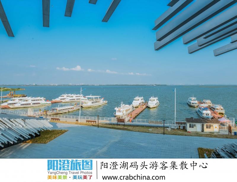阳澄湖莲花岛大码头游客集散中心