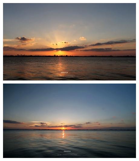 #苏州爆料# 苏州 阳澄湖边日落。 
