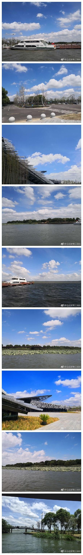 夏日里算是凉爽的好天气,淡季的阳澄湖莲花岛,风景不错,出乎意料,也许以后会再来。 