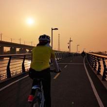 人間四月天 事實證明 跑步對提高心肺功能有很大的作用 今日環陽澄湖騎行比上次提高不止一個level 繼續練 ~ [耶] 2苏州·阳澄湖湖滨生态体育公园