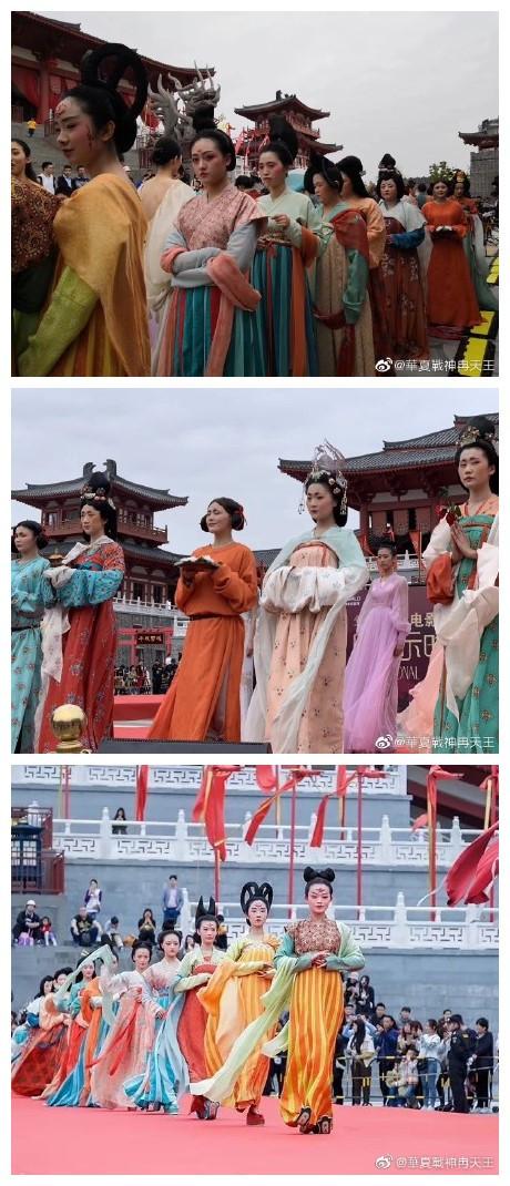苏州阳澄湖华谊兄弟影视基地的漢服活动