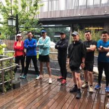 雨中奔跑,阳澄湖边,伙伴们加油!