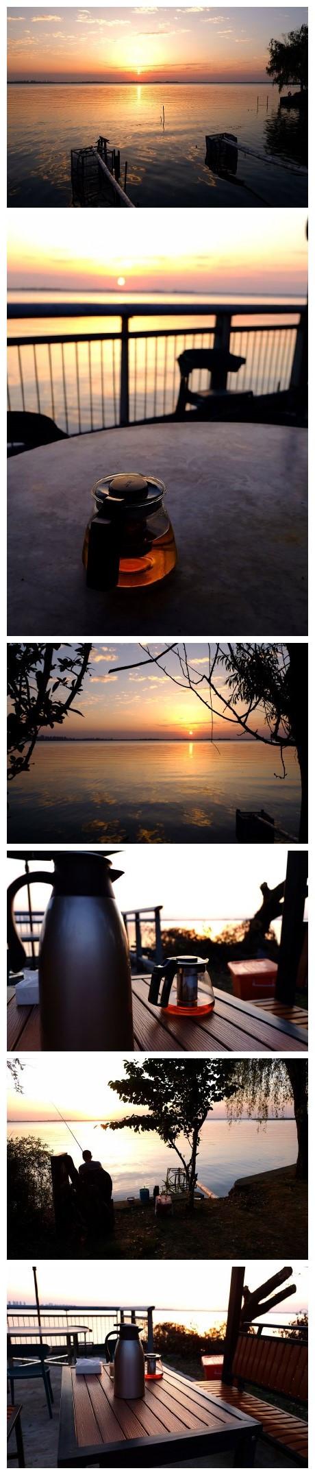 阳澄湖浅水湾的黄昏